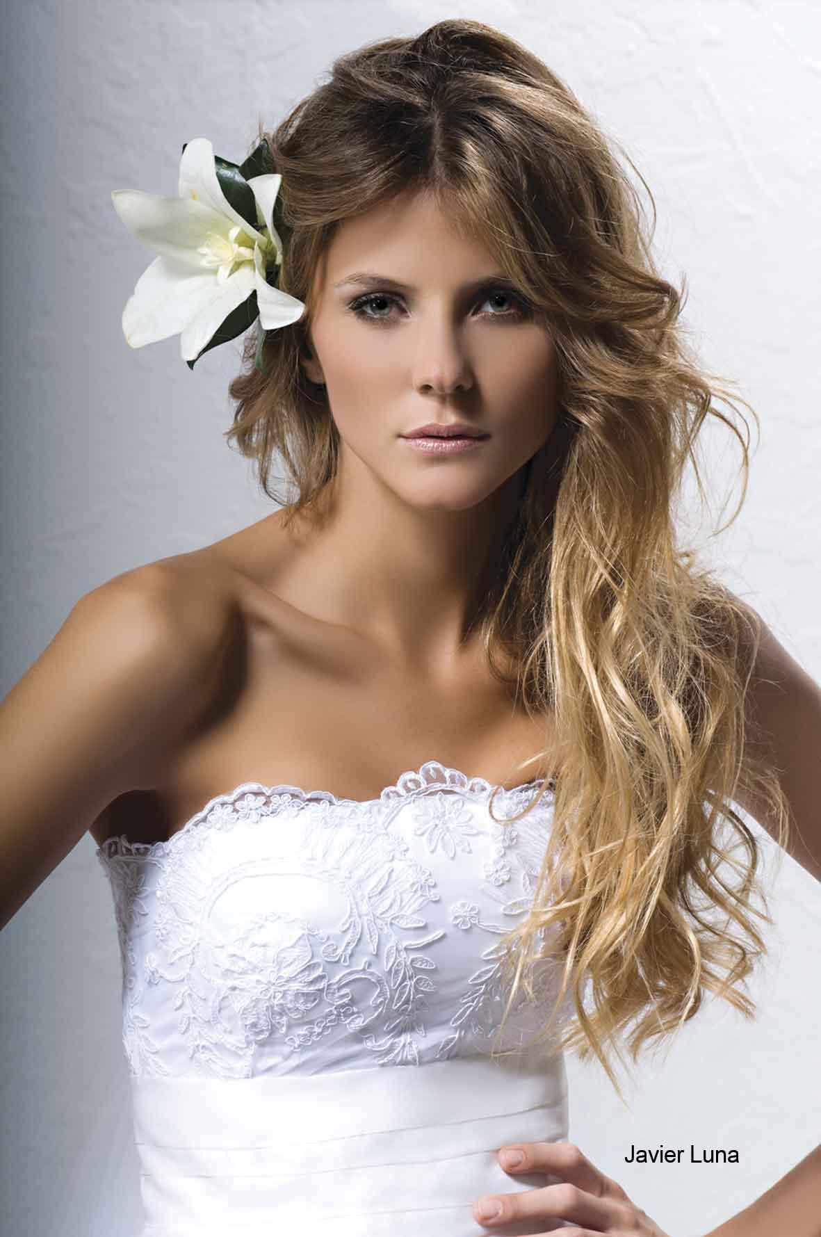 Peinados de novia vestido palabra de honor